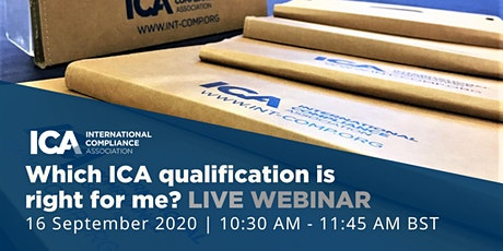 Webinar: Which ICA Qualification is Right For Me? tickets