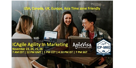 ICAgile Agility in Marketing  (ICP-MKG) Online Class November 23 - 26 tickets
