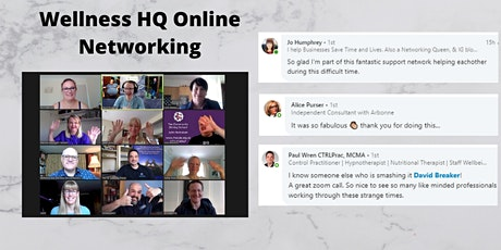 Wellness HQ Online Networking 18th of August 2020 tickets