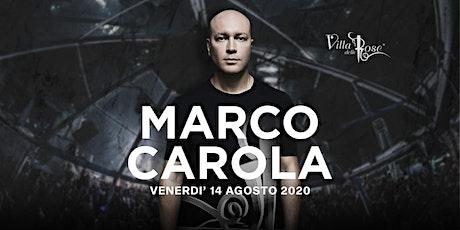 Marco Carola Villa delle Rose Riccione biglietti
