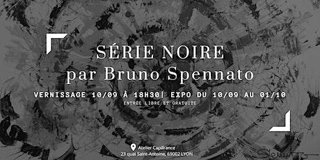 """Vernissage expo peinture contemporaine """"Série Noire"""" billets"""