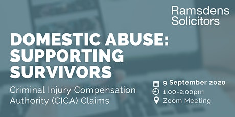DOMESTIC ABUSE: SUPPORTING SURVIVORS tickets