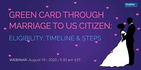 Green Card Through Marriage to US Citizen: Eligibility, Timeline & Steps tickets