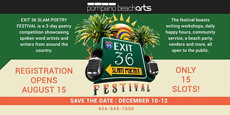 Exit 36 Slam Poetry Festival tickets