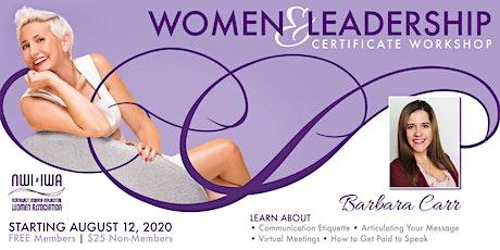Women & Leadership Certificate Workshop tickets