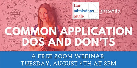 COMMON APPLICATION DOs and DON'Ts tickets