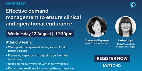 Effective demand management to ensure clinical and operational endurance tickets