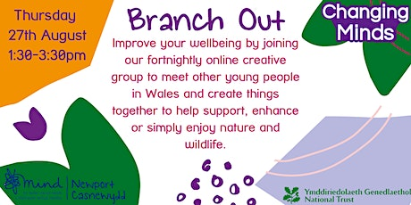 Branch Out - Online creative group for young people focusing on nature tickets