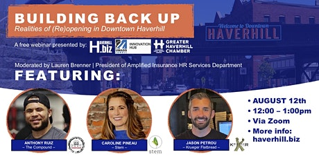 Building Back Up: Realities of (Re)opening in Downtown Haverhill tickets