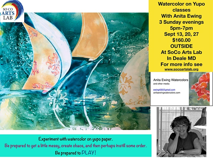 Watercolor on Yupo 3 Day Class:   September 13, 20, & 27 5pm-7pm image