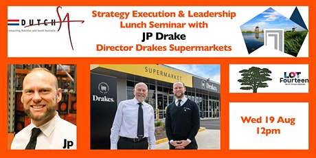 Lunch Seminar with JP Drake tickets