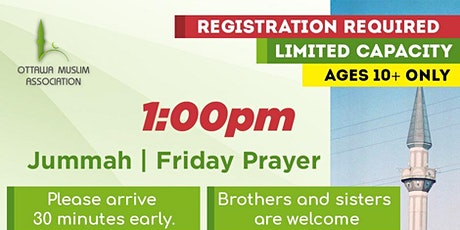 Ottawa Mosque Friday Prayer Registration tickets
