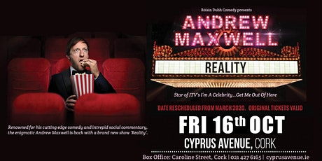 Andrew Maxwell - Reality (RESCHEDULED DATE) tickets