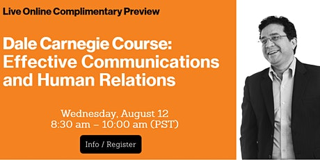 LIVE ONLINE: Effective Communications and Human Relations Preview Session tickets