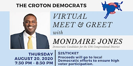 Virtual Meet & Greet with Mondaire Jones hosted by The Croton Democrats tickets