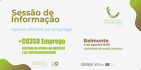 SESSÃO DE INFORMAÇÃO BELMONTE | +CO3SO EMPREGO bilhetes