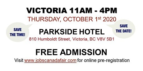 Victoria Job Fair - Thursday, October 1st 2020 (11am-4pm) tickets