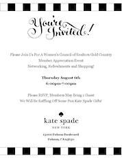 Members Appreciation Event @ Kate Spade tickets