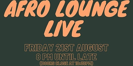 AfroLounge Live tickets