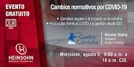 Cambios normativos por COVID-19 entradas