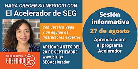 El acelerador virtual de SEG - Sesión informativa entradas