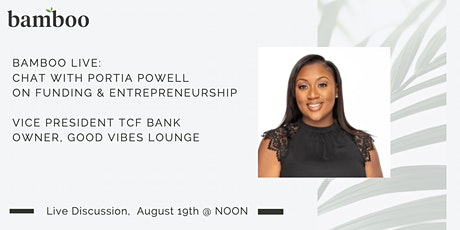 Bamboo Live: Portia Powell on Funding tickets