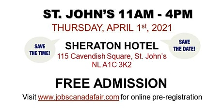 St. John's Job Fair - Thursday, April 1st 2021 (11am - 4pm) tickets