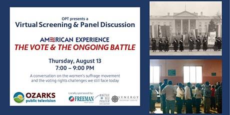 OPT's Virtual Screening & Panel Discussion:  The Vote & The Ongoing Battle tickets