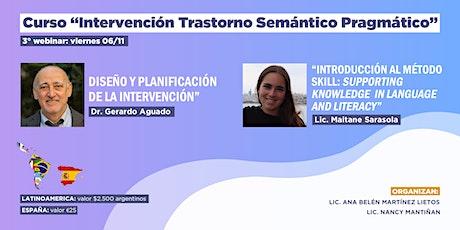 """Webinar """"Intervención Pragmática: diseño de intervención y SKILL"""" entradas"""