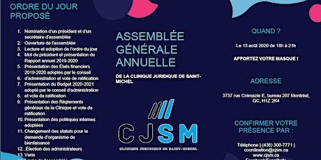Assemblée générale annuelle (AGA) billets