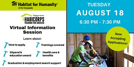 Join Habitat's Workforce Development Program! Habicorps Info Session tickets