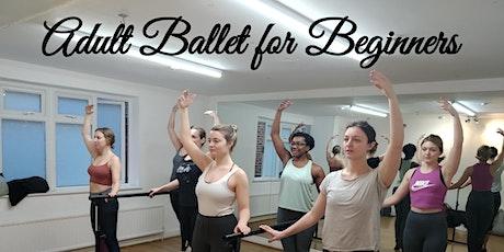 ONLINE BALLET CLASS - ADULT BEGINNERS 18+ tickets