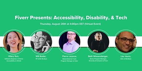 Fiverr Presents: Accessibility, Disability & Tech tickets