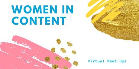 Women in Content Coffee Break - Video & Social Media Marketing tickets
