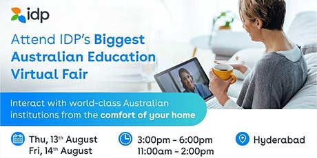 Attend Australian Education Virtual Fair in Hyderabad - 13th Aug / 3- 6pm tickets