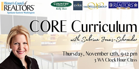 CORE Curriculum with Sabrina Jones-Schroeder tickets