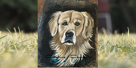 """Paint your Pet"" Slate or Canvas Paint Night tickets"