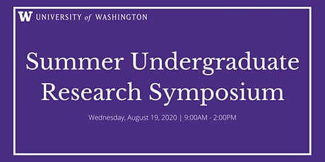 Summer Undergraduate Research Symposium tickets