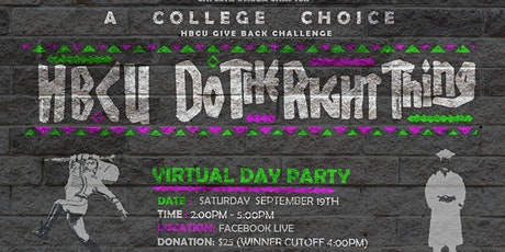 2020 HBCU: DO THE RIGHT THING DAY PARTY FUNDRAISER tickets