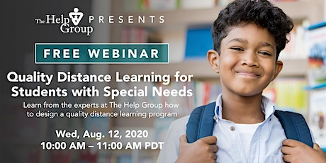 Webinar: Quality Distance Learning for Students with Special Needs tickets