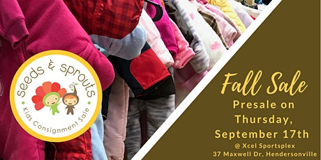 Seeds and Sprouts Kids Consignment Sale - Fall 2020 Presale Event tickets