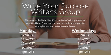 Write Your Purpose Writer's Group tickets
