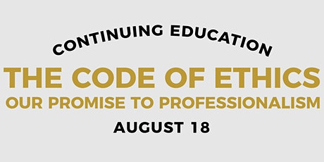 August 18 - NAR Ethics tickets