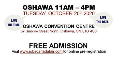 Oshawa Job Fair - Tuesday, October 20th 2020 tickets