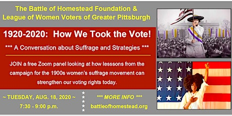 """Film Talk for """"The Vote"""" – A Zoom Conversation on Suffrage and Strategies tickets"""