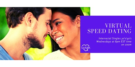 Interracial Singles Virtual Speed Dating (30's/40's) tickets