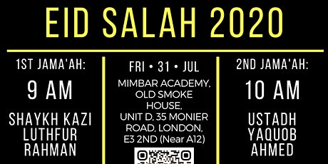 Eid Salah at Mimbar Academy tickets