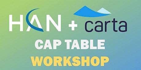 HAN + Carta Cap Table Workshop tickets