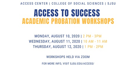 Fall 2020-ACCESS to Success Workshop tickets