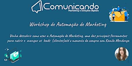 Workshop de Automação de Marketing ingressos